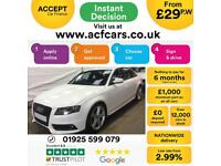 2011 WHITE AUDI A4 2.0 TDI 136 BLACK EDITION DIESEL SALOON CAR FINANCE FR £29 PW