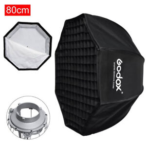 GODOX 32″(80cm) Octagon Umbrella Softbox & Bowens Mount Holder f