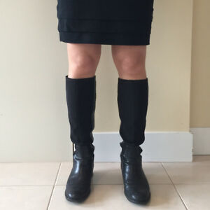 Used Nine West (7-7.5) leather knee boots - need resoling