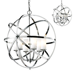 Z-Lite 6017 Aranya 6-light pendant (chrome)