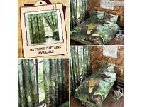 Dinosaur single bedding and curtains