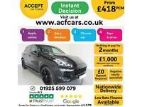 2014 BLACK PORSCHE CAYENNE 3.0 D V6 S DIESEL AUTO ESTATE CAR FINANCE FR £418 PCM