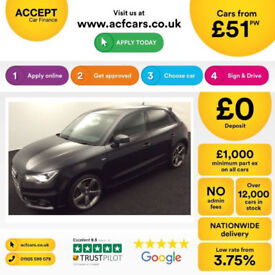 BLACK AUDI A1 SPORTBACK 1.6 2.0 TDI SPORT S LINE BLACK EDITION FROM £51 PER WEEK