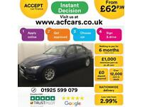 2016 BLUE BMW 320D 2.0 EFD PLUS DIESEL AUTO SALOON CAR FINANCE FR 62 PW