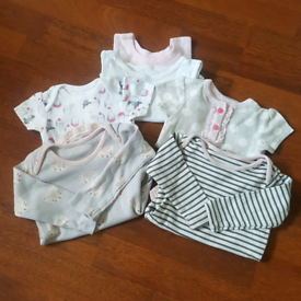 Vests/ shirt and long sleeved 0-3 mths
