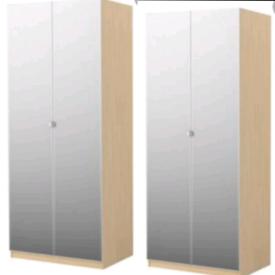 IKEA Pax double wardrobes X2 , vikedal mirror doors