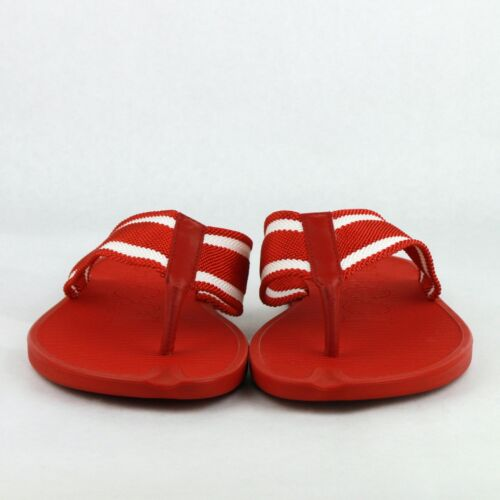 35b5d3c6ad9 ... New Gucci Red Rubber Sandals with White Stripes 391366 7567 фото ...