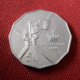 2000 Australia 50c - Royal Visit coin