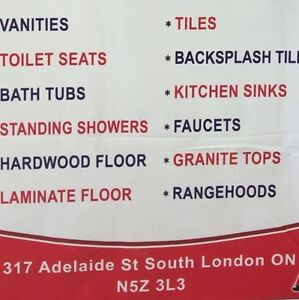 Hardwood  Laminate  Tiles  Vanity  Showers  Faucets  Toilets London Ontario image 5