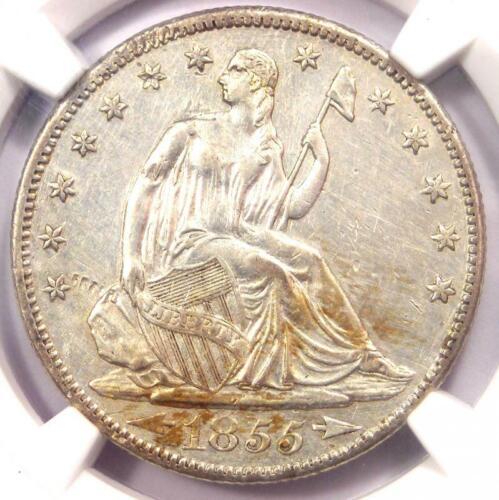 1855-S Arrows Seated Liberty Half Dollar 50C - NGC AU Details - Rare Coin!