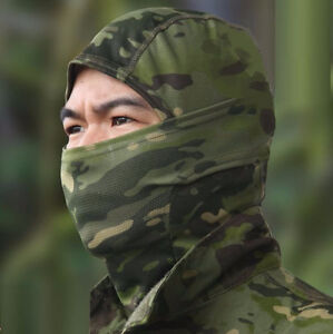 Dark Green Camouflage Face Mask