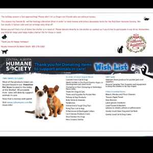 Donations needed for humane society