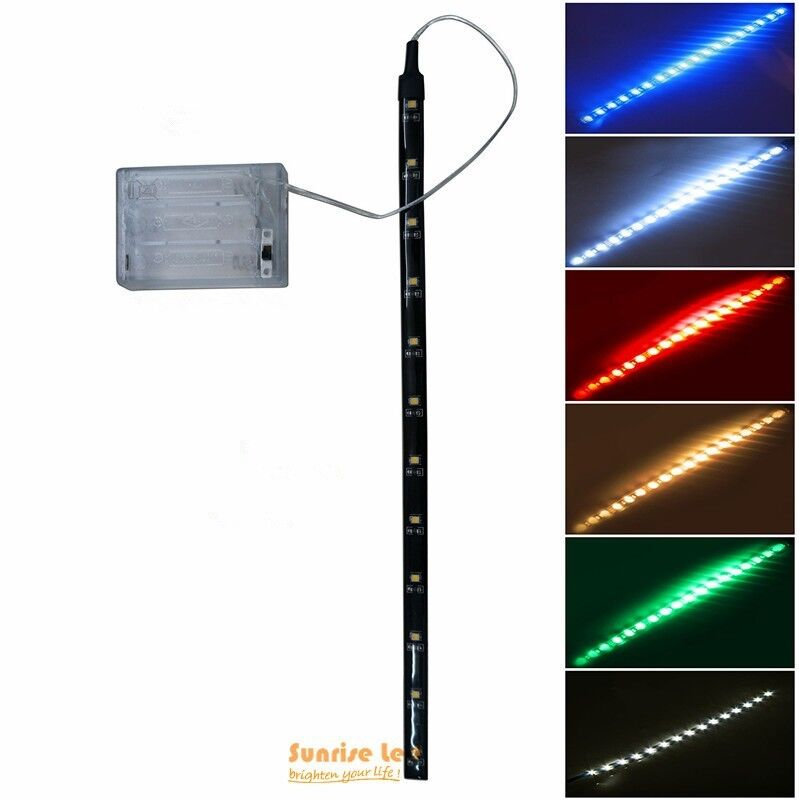 4 5v battery operated 30cm led strip light waterproof. Black Bedroom Furniture Sets. Home Design Ideas