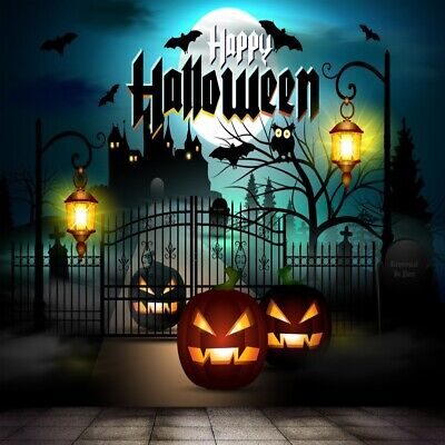 Halloween Scary Night Pumpkin Lantern Backdrop 6x6ft Show Photo Background Props - Desktop Backgrounds Halloween Scary