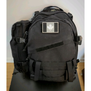 Tactical MOLLE AIII 3-Day Backpack 1000D Cordura Black