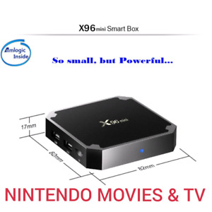 Android 7 Newest X96 mini 4K S9050W CPU Kodi Nintendo & Atari