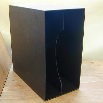 VINYL STORAGE -Box, 70er Jahre in anthrazit, für ca. 40 s Vinyl LP