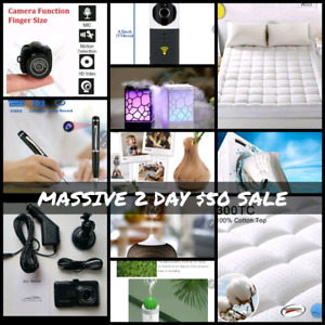 MASSIVE SALE Security/Hidden Camera, Diffusers Mattress Toppers