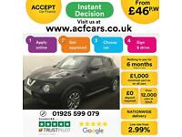 2015 BLACK NISSAN JUKE 1.6 TEKNA XTRONIC PETROL HATCHBACK CAR FINANCE FR £46 PW