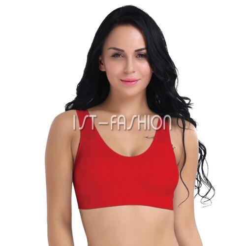 Damen Sport-BH HH Bügellos Gepolsterter Fitness Yoga Sport-Bra Komfort Bustier