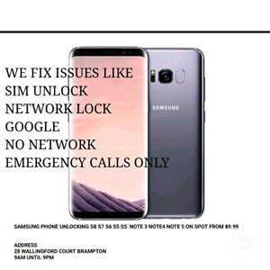 LG SAMSUNG NO NETWORK IMEI FIX S8 S7 S9 A8 V30 UNLOCK FRP ALL