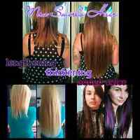Traveling hair extensions technician