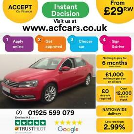 2014 RED VW PASSAT 1.6 TDI 105 BMT EXECUTIVE DIESEL SALOON CAR FINANCE FR £29 PW