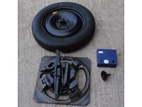 FORD FOCUS MK2 2007 SPACER SPARE WHEEL AND JACK SET T125/85/R16 1S71MH07299
