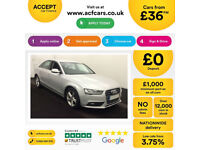 Silver AUDI A4 SALOON 1.8 2.0 TDI Diesel SPORTS LINE FROM £36 PER WEEK!