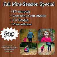 Fall Mini-Session  ONLY $40