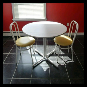 Retro Dining Set (Table & 2 Chairs) for sale!