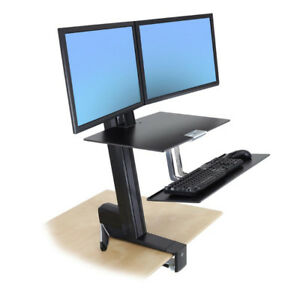New In Box - Ergotron WorkFit-S Dual Monitor - Sit-Stand Desk