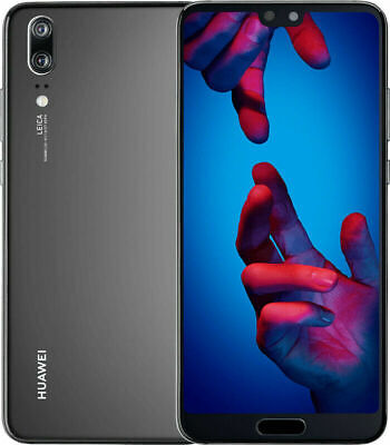 "Huawei P20 DualSim 128GB LTE 4G Android Smartphone Handy 5,8"" HD 20 MPX schwarz"