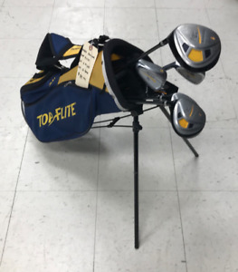 Used Top Flite Junior 6 Piece Left Hand Golf Club Set With Bag