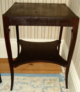 ANTIQUE SIDE TABLES  -f