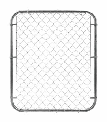 Yard Gard  48 in. H 12 Gauge Galvanized  Silver  Metal  Chain Link Fence Gate