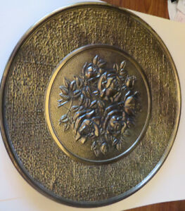 Antique Brass Items-Wall Plate, Sconces,Hanging Planter - $12 ea