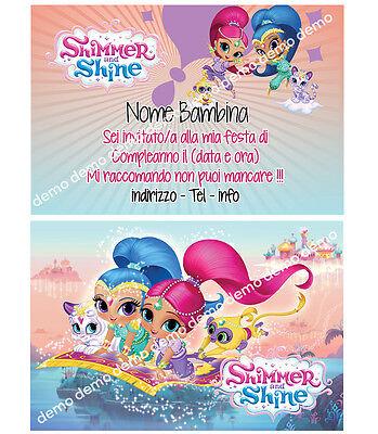 Biglietti - Inviti Compleanno personalizzati SHIMMER AND SHINE