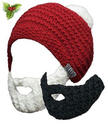 75ff7da1b11 Beardo Original - Santa Beards White   Black Movember Santa All Year 2 Pack