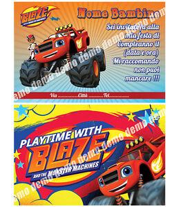 Biglietti inviti compleanno personalizzati blaze ebay for Immagini di blaze