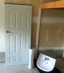 New Door and Bathroom sink to give away