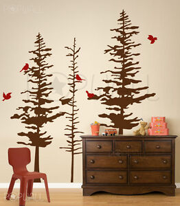 Pine Cone trees wall decal Nature Custom your own DIY