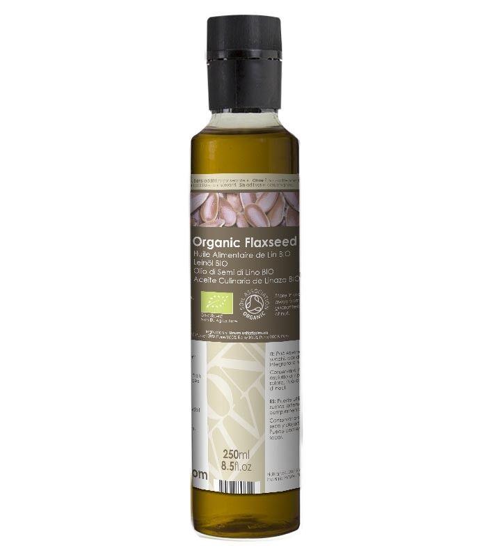 Olio Alimentare di Semi di Lino Vergine Biologico - Naturale al 100%