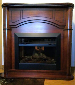 Electric Fireplace with Fine Wood Mantle