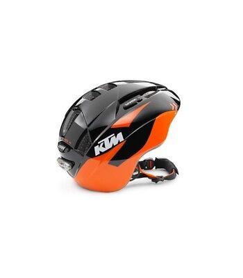 Casco de bicicleta bebé KTM kids training bike negro naranja