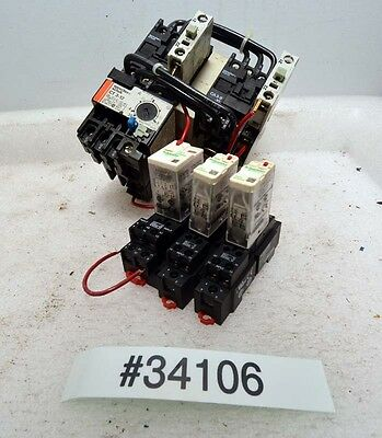 1 Lot Of Electrical Relays And Motor Starter Inv.34106