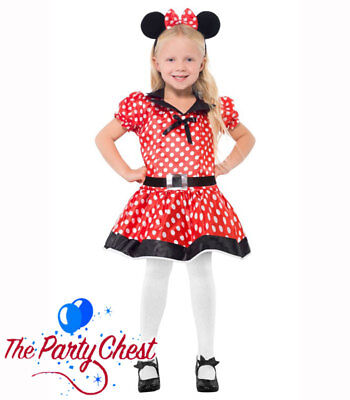 Tv Celebrity Halloween Costumes (GIRLS CUTE MISS MOUSE COSTUME Child Polka Dot Mouse TV Fancy Dress Outfit)