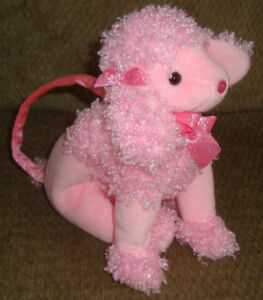 BEANIE BABY FAB PINK POODLE PURSE