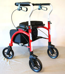 Brand New Xpresso Lite Red Adult Rollator & Walker SEE VIDEO