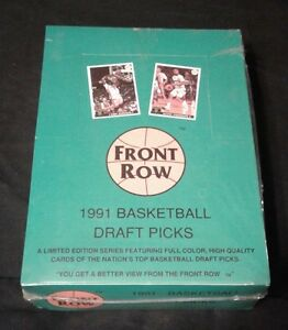 1991 Sealed, Front row Basketball DRAFT pics BOX set English.
